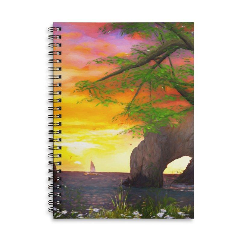 Sunset Dream Accessories Lined Spiral Notebook by Jasmina Seidl's Artist Shop