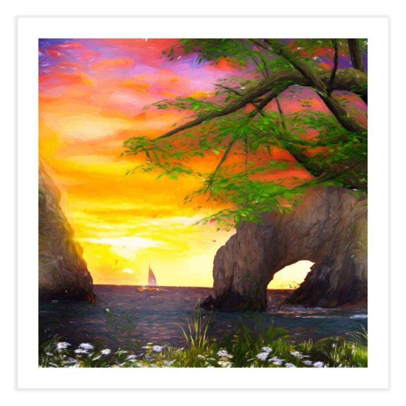Sunset Dream Home Fine Art Print by Jasmina Seidl's Artist Shop
