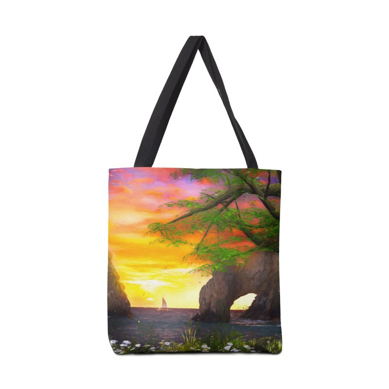 Sunset Dream Accessories Tote Bag Bag by Jasmina Seidl's Artist Shop