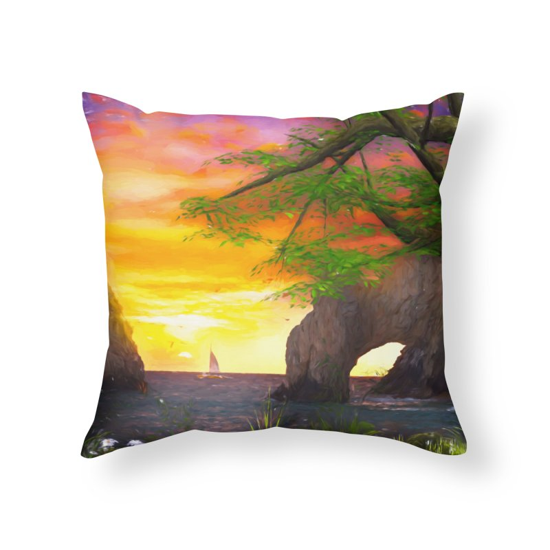 Sunset Dream Home Throw Pillow by Jasmina Seidl's Artist Shop