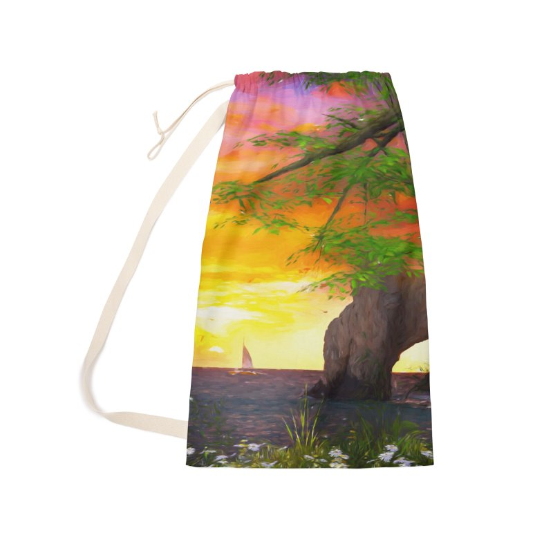 Sunset Dream Accessories Laundry Bag Bag by Jasmina Seidl's Artist Shop