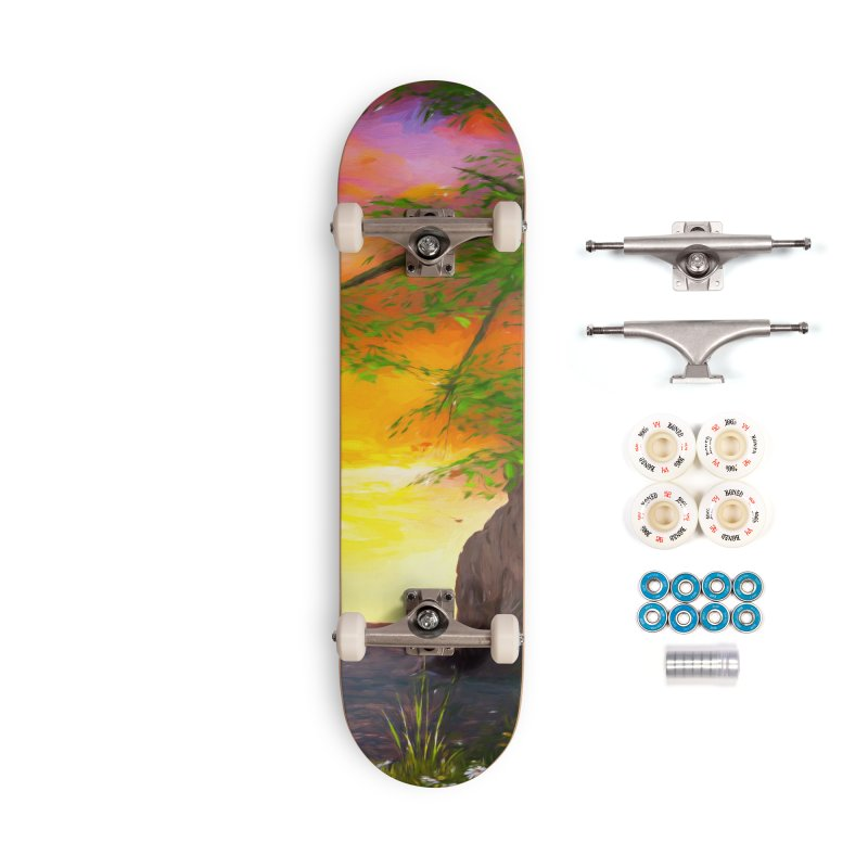 Sunset Dream Accessories Complete - Premium Skateboard by Jasmina Seidl's Artist Shop