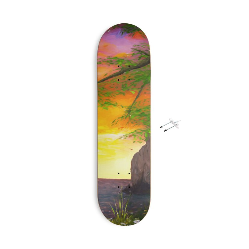 Sunset Dream Accessories With Hanging Hardware Skateboard by Jasmina Seidl's Artist Shop