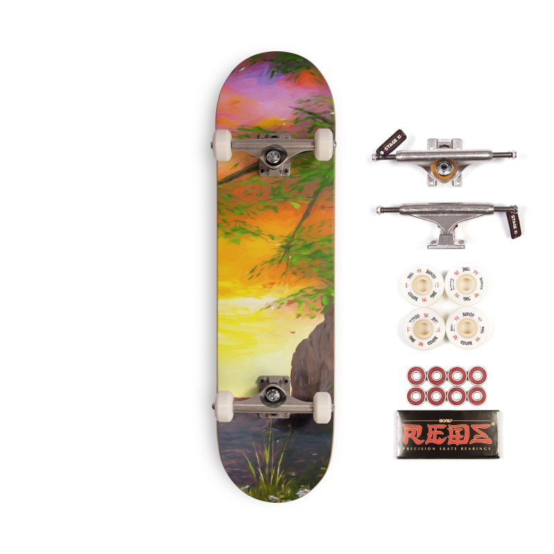 Sunset Dream Accessories Complete - Pro Skateboard by Jasmina Seidl's Artist Shop