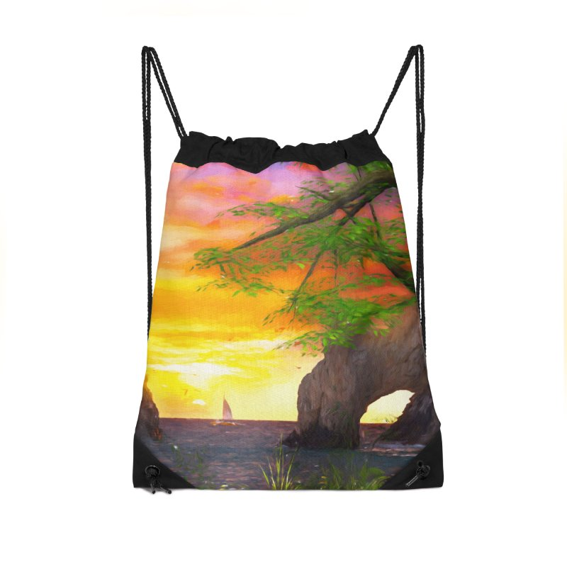 Sunset Dream Accessories Drawstring Bag Bag by Jasmina Seidl's Artist Shop