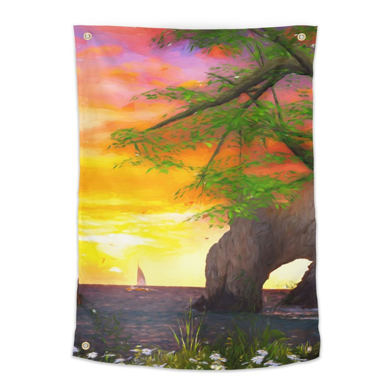 Sunset Dream Home Tapestry by Jasmina Seidl's Artist Shop