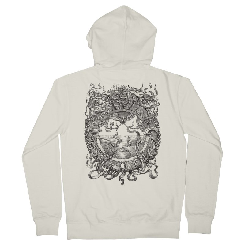 Pearl Portal Men's French Terry Zip-Up Hoody by Jason Brammer's Shop