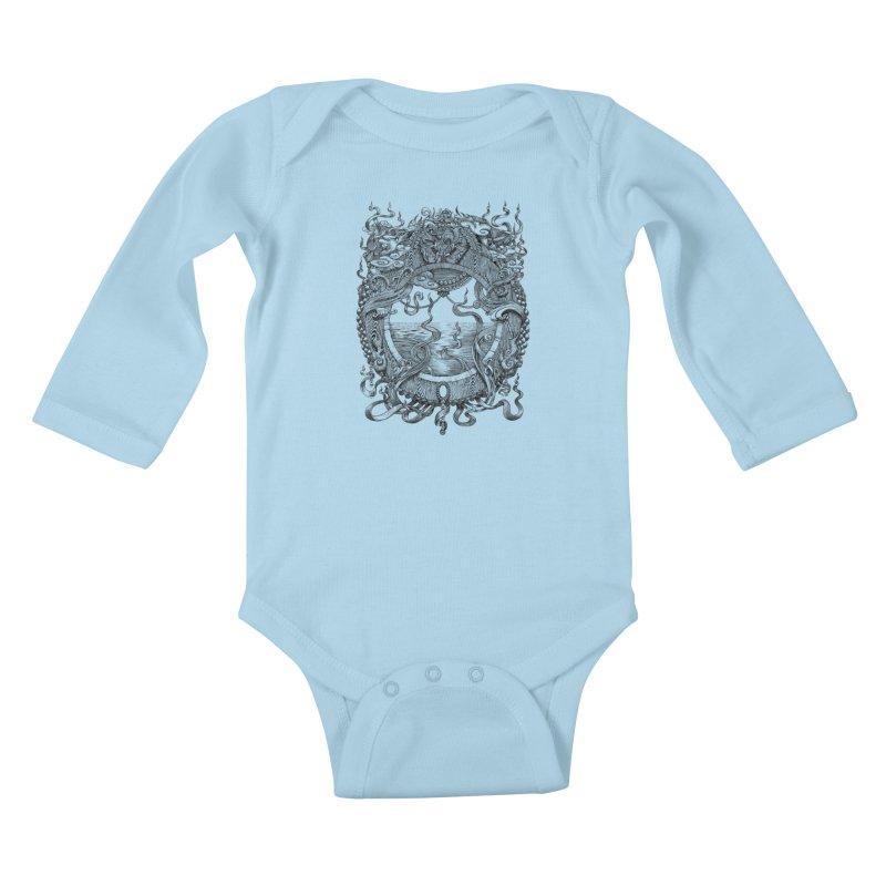 Pearl Portal Kids Baby Longsleeve Bodysuit by Jason Brammer's Shop