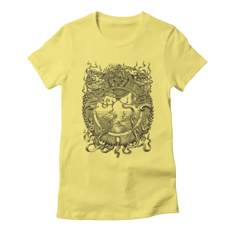 Pearl Portal in Women's Fitted T-Shirt Light Yellow by Jason Brammer's Shop