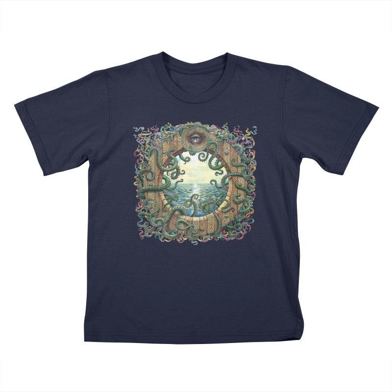 Writhing Waters XVIII Kids T-Shirt by Jason Brammer's Shop