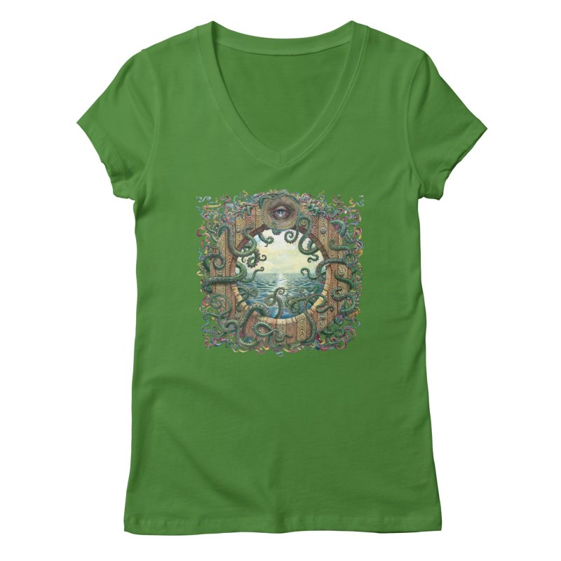 Writhing Waters XVIII Women's Regular V-Neck by Jason Brammer's Shop