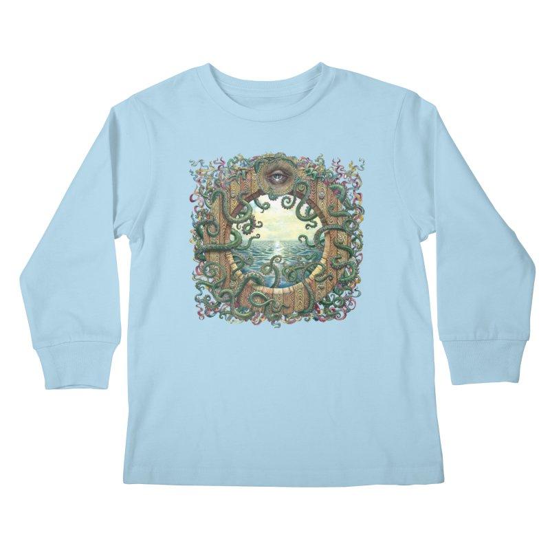 Writhing Waters XVIII Kids Longsleeve T-Shirt by Jason Brammer's Shop