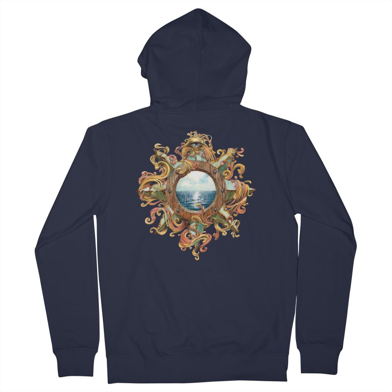 Writhing Waters XIII Men's French Terry Zip-Up Hoody by Jason Brammer's Shop