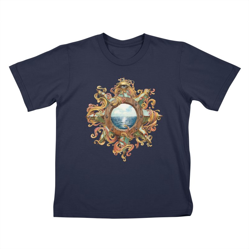 Writhing Waters XIII Kids T-Shirt by Jason Brammer's Shop