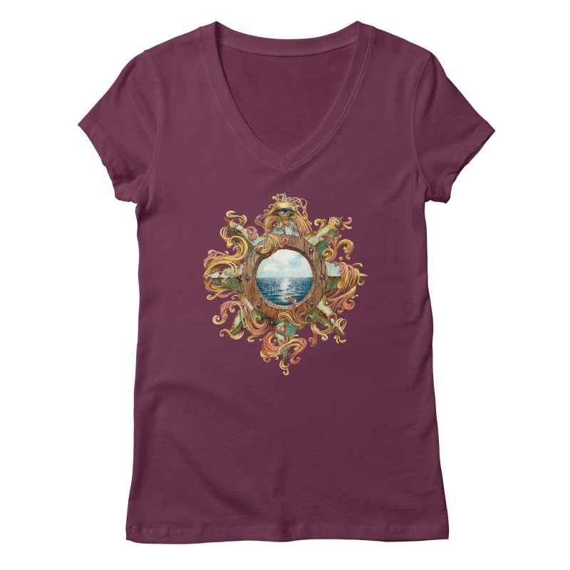 Writhing Waters XIII Women's Regular V-Neck by Jason Brammer's Shop