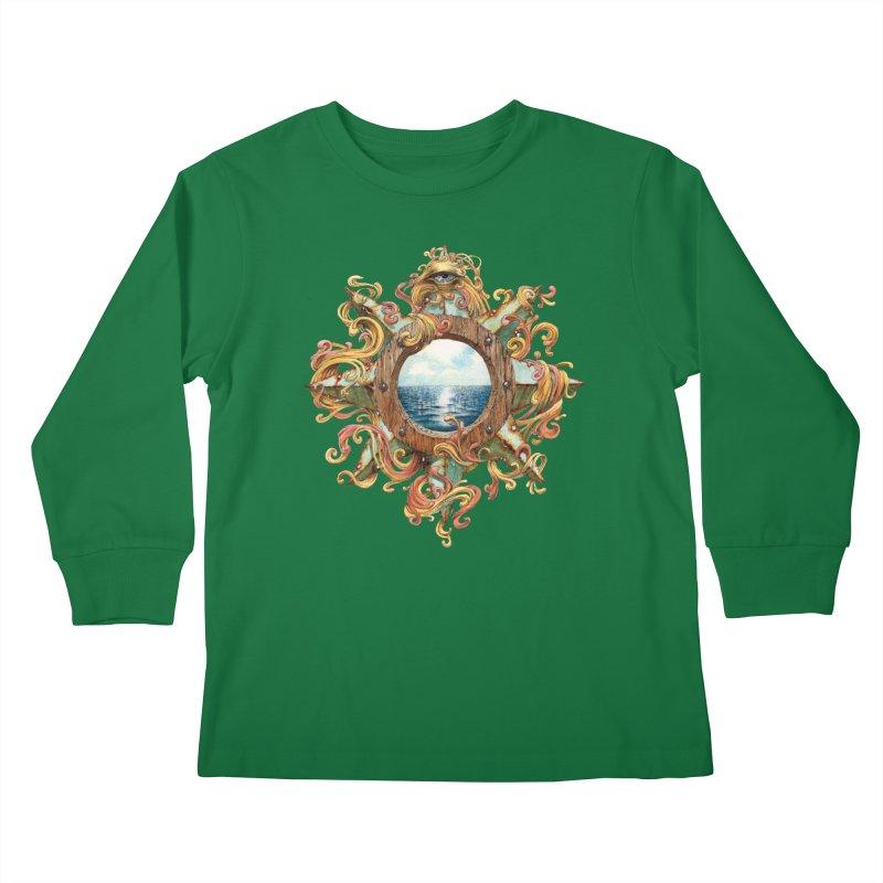 Writhing Waters XIII Kids Longsleeve T-Shirt by Jason Brammer's Shop