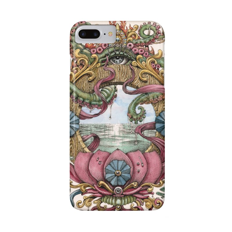 """Writhing Waters XVII (Lotus Pearl)"" phone case  in iPhone 7 Plus Phone Case Slim by Jason Brammer's Shop"