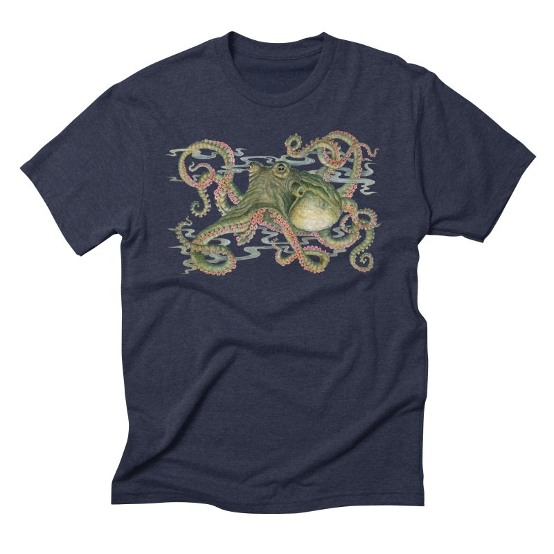 Octopod: Specimen H in Men's Triblend T-Shirt Navy by Jason Brammer's Shop