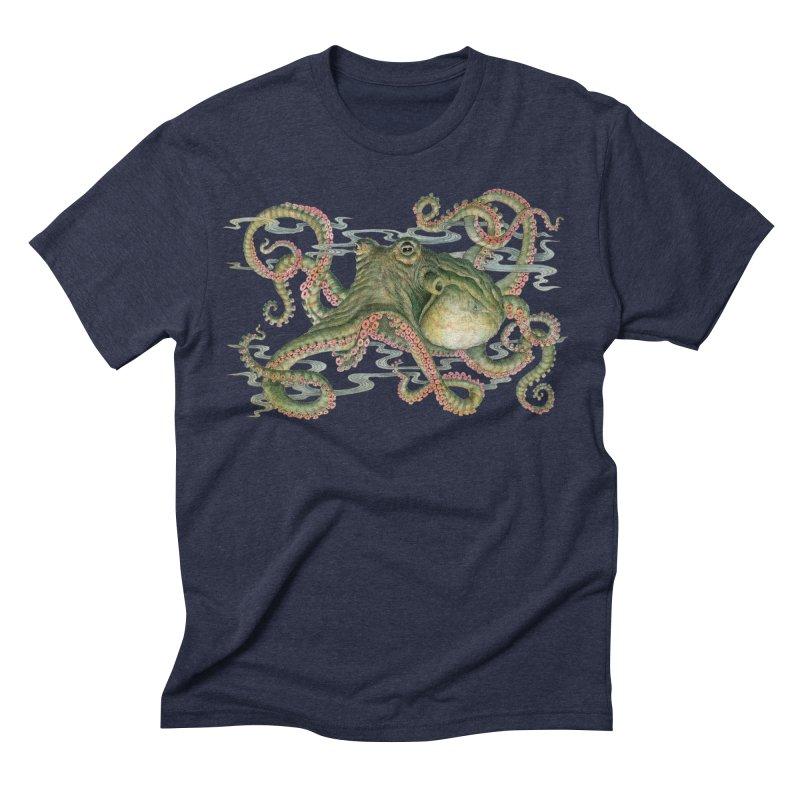 Octopod: Specimen H  in Men's Triblend T-shirt Navy by Jason Brammer's Shop