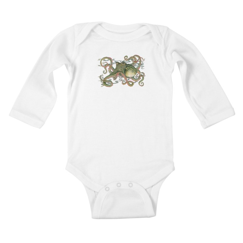 Octopod: Specimen H Kids Baby Longsleeve Bodysuit by Jason Brammer's Shop