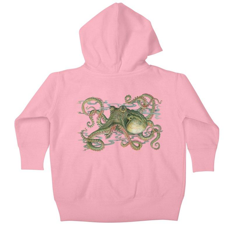 Octopod: Specimen H Kids Baby Zip-Up Hoody by Jason Brammer's Shop