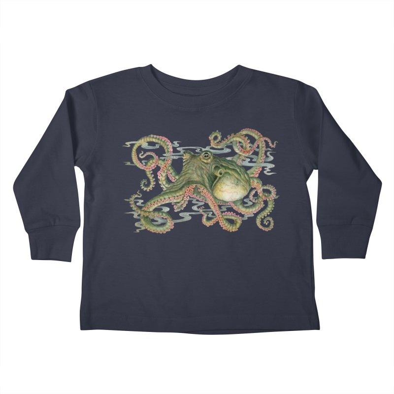 Octopod: Specimen H Kids Toddler Longsleeve T-Shirt by Jason Brammer's Shop
