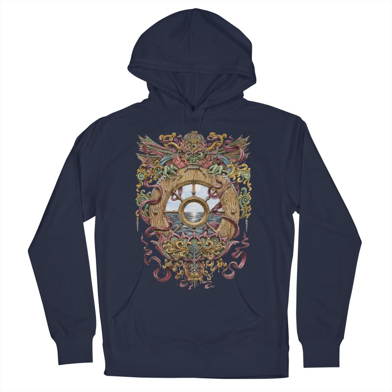 Writhing Waters XVI (Mara's Wheel) Men's French Terry Pullover Hoody by Jason Brammer's Shop
