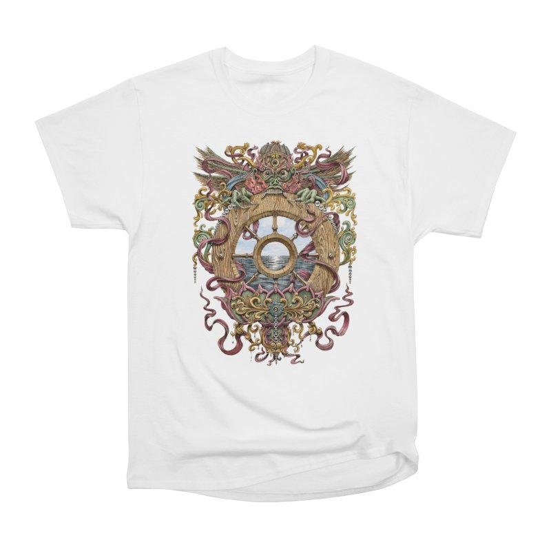 Writhing Waters XVI (Mara's Wheel) Women's Heavyweight Unisex T-Shirt by Jason Brammer's Shop