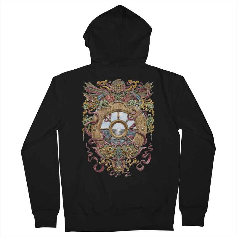 Writhing Waters XVI (Mara's Wheel) in Men's Zip-Up Hoody Black by Jason Brammer's Shop
