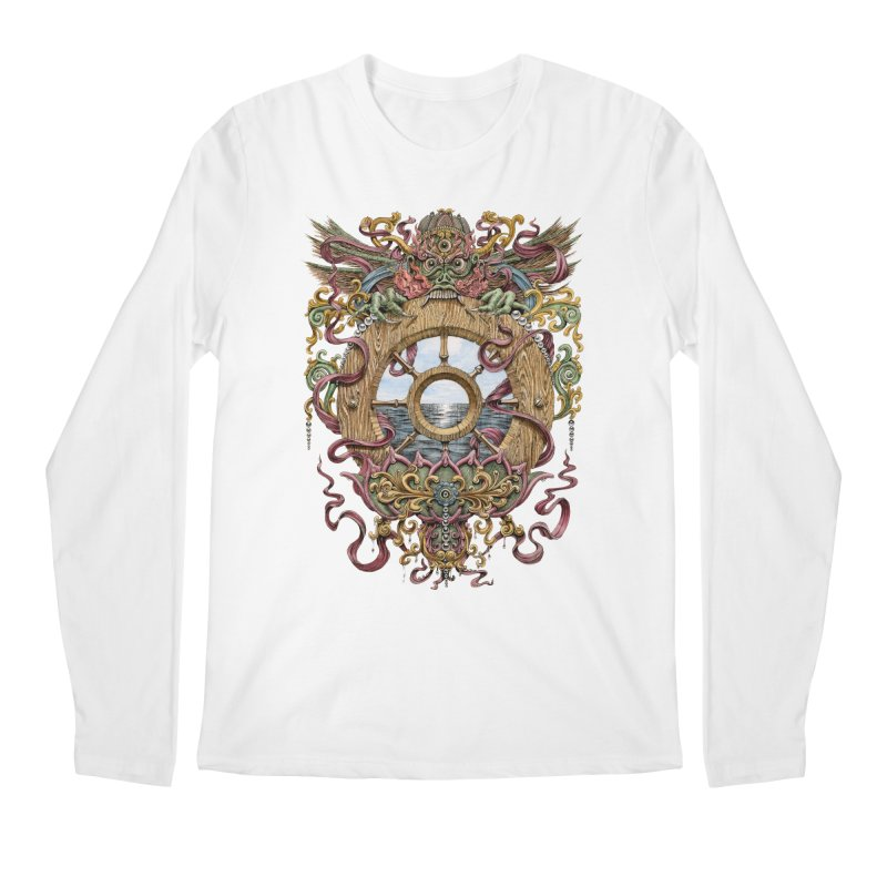 Writhing Waters XVI (Mara's Wheel) Men's Regular Longsleeve T-Shirt by Jason Brammer's Shop