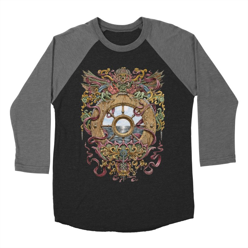 Writhing Waters XVI (Mara's Wheel) Women's Baseball Triblend Longsleeve T-Shirt by Jason Brammer's Shop