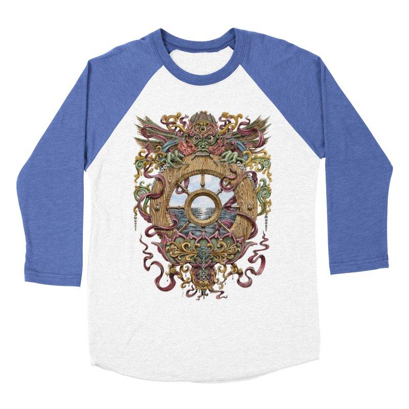 Writhing Waters XVI (Mara's Wheel) Men's Baseball Triblend Longsleeve T-Shirt by Jason Brammer's Shop