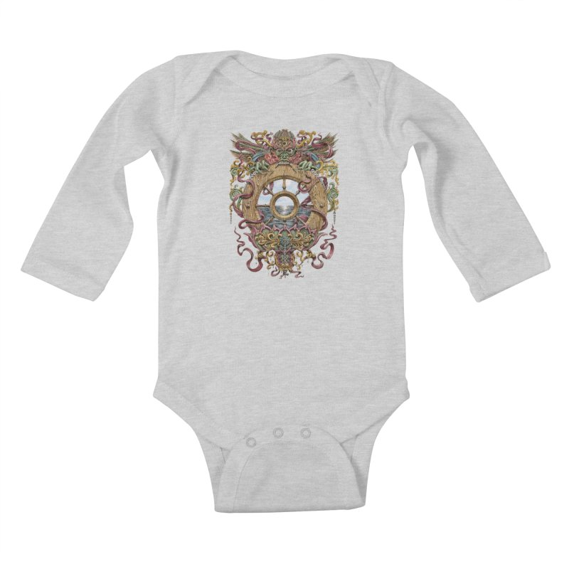 Writhing Waters XVI (Mara's Wheel) Kids Baby Longsleeve Bodysuit by Jason Brammer's Shop