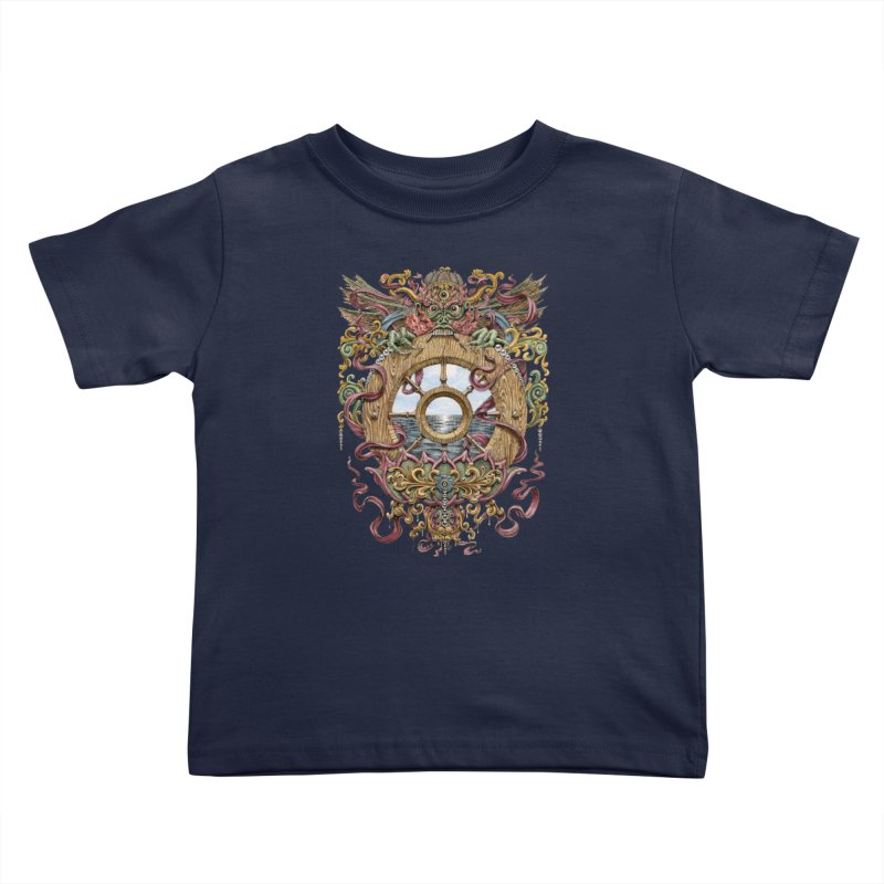 Writhing Waters XVI (Mara's Wheel) Kids Toddler T-Shirt by Jason Brammer's Shop