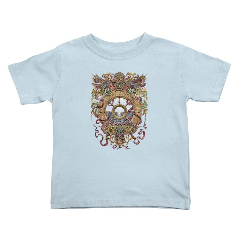 Writhing Waters XVI (Mara's Wheel) Kids Toddler T-Shirt by Jason Brammer's Shop