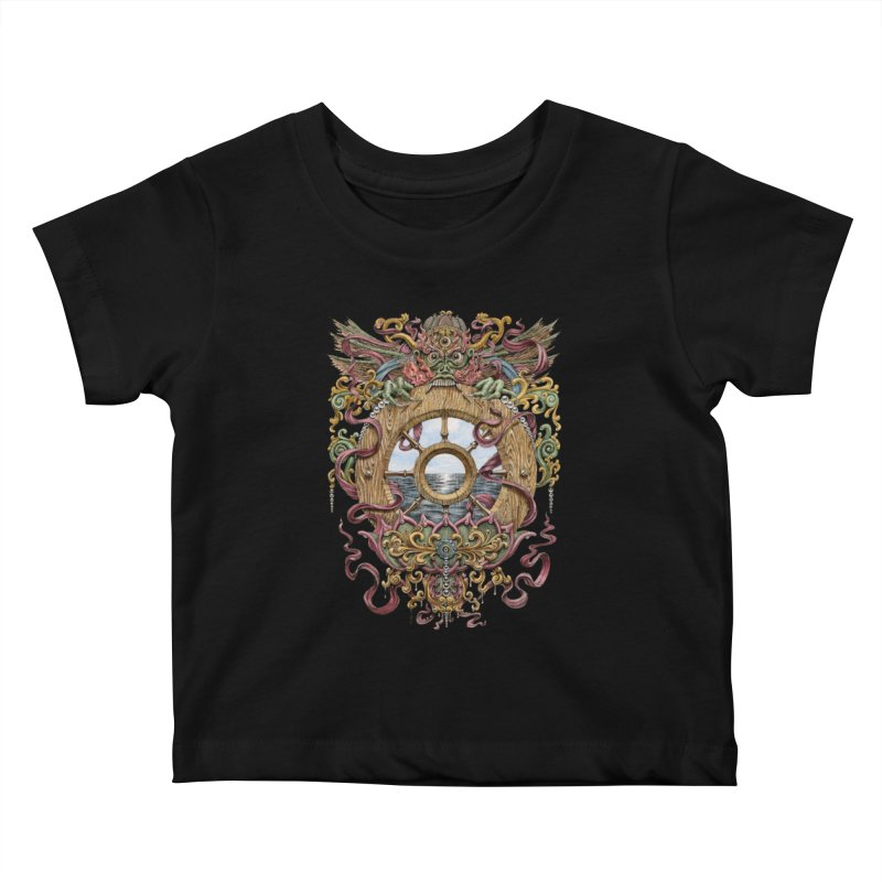 Writhing Waters XVI (Mara's Wheel) Kids Baby T-Shirt by Jason Brammer's Shop