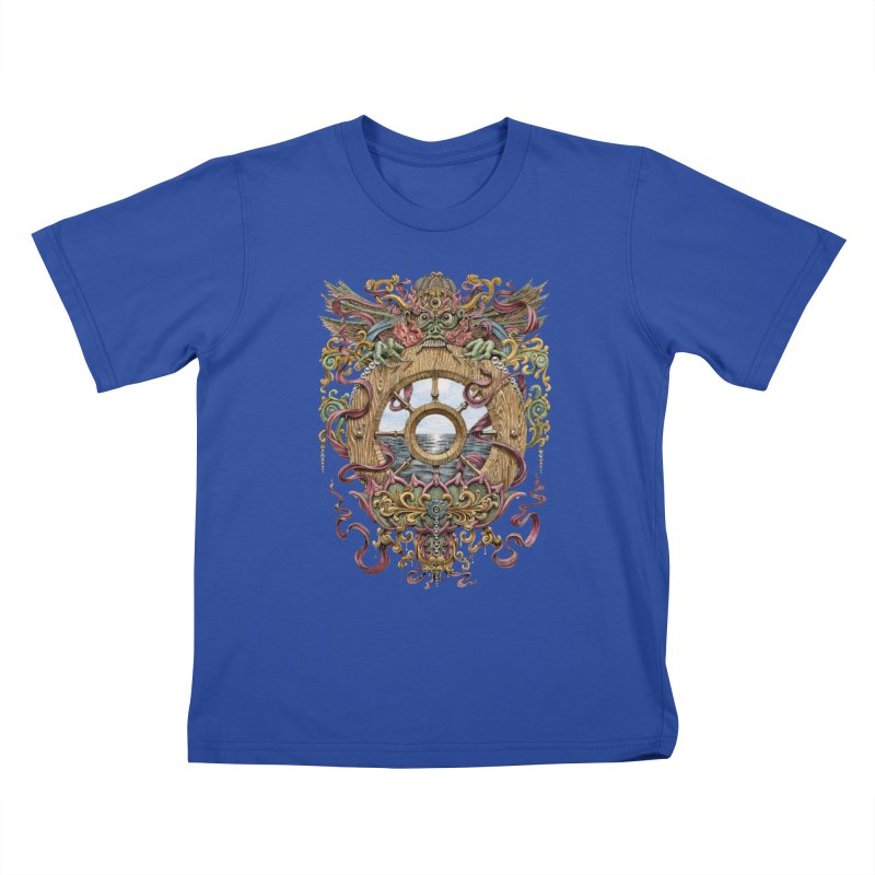 Writhing Waters XVI (Mara's Wheel) Kids T-Shirt by Jason Brammer's Shop