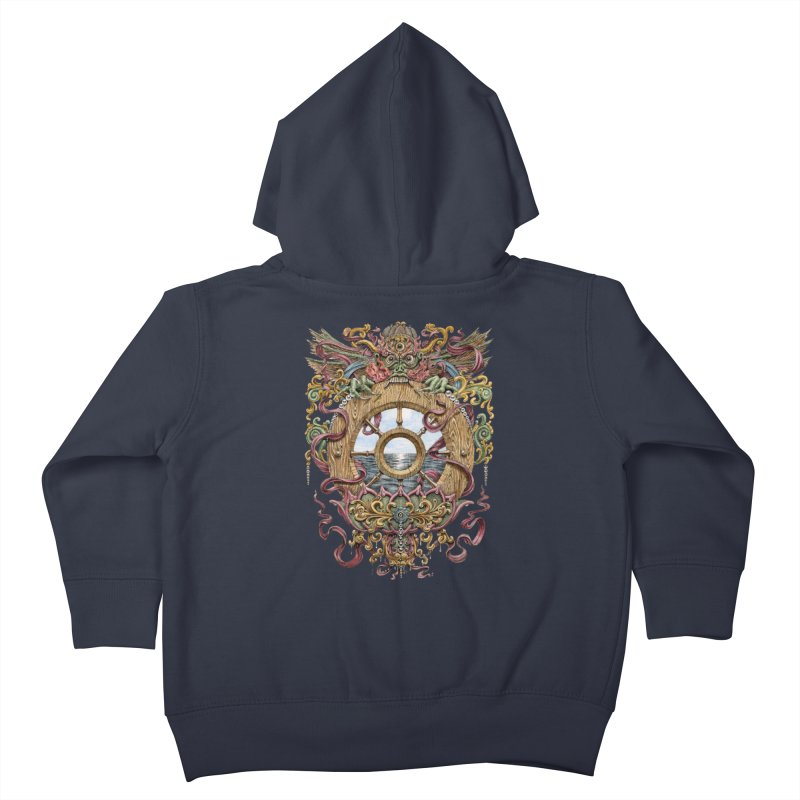Writhing Waters XVI (Mara's Wheel) Kids Toddler Zip-Up Hoody by Jason Brammer's Shop