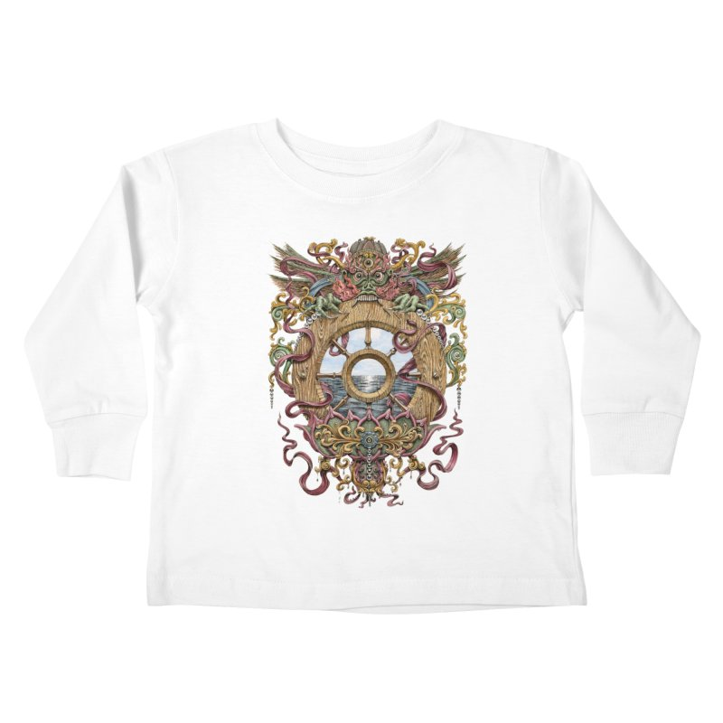 Writhing Waters XVI (Mara's Wheel) Kids Toddler Longsleeve T-Shirt by Jason Brammer's Shop