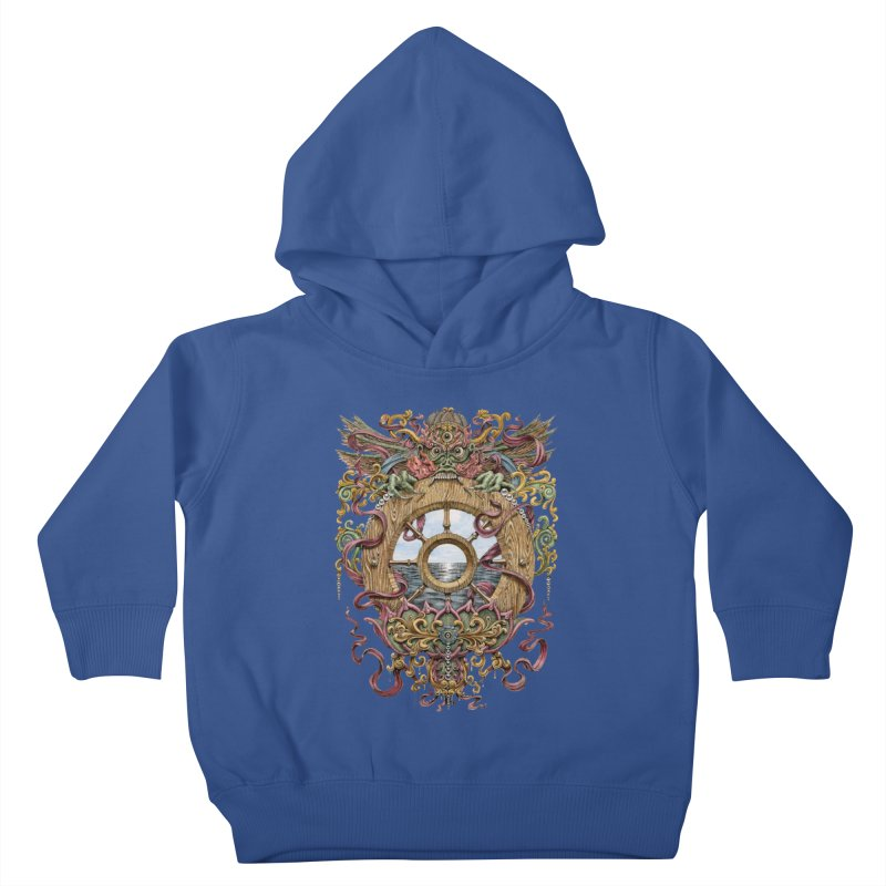 Writhing Waters XVI (Mara's Wheel) Kids Toddler Pullover Hoody by Jason Brammer's Shop