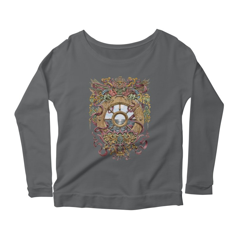 Writhing Waters XVI (Mara's Wheel) Women's Scoop Neck Longsleeve T-Shirt by Jason Brammer's Shop