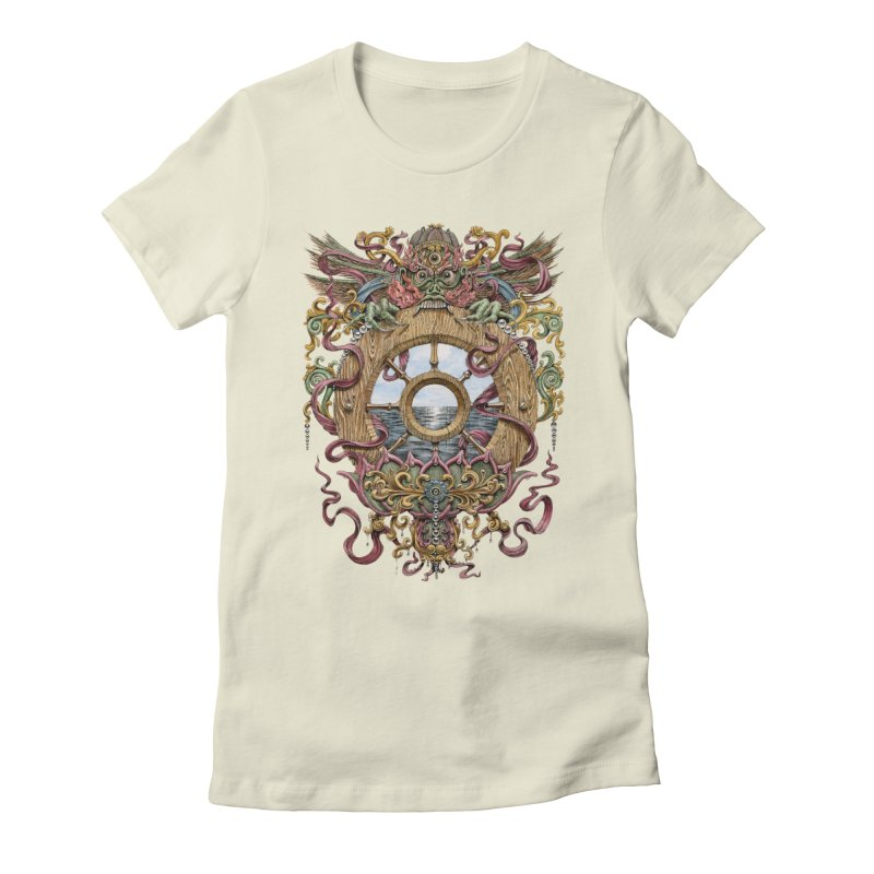 Writhing Waters XVI (Mara's Wheel) Women's Fitted T-Shirt by Jason Brammer's Shop