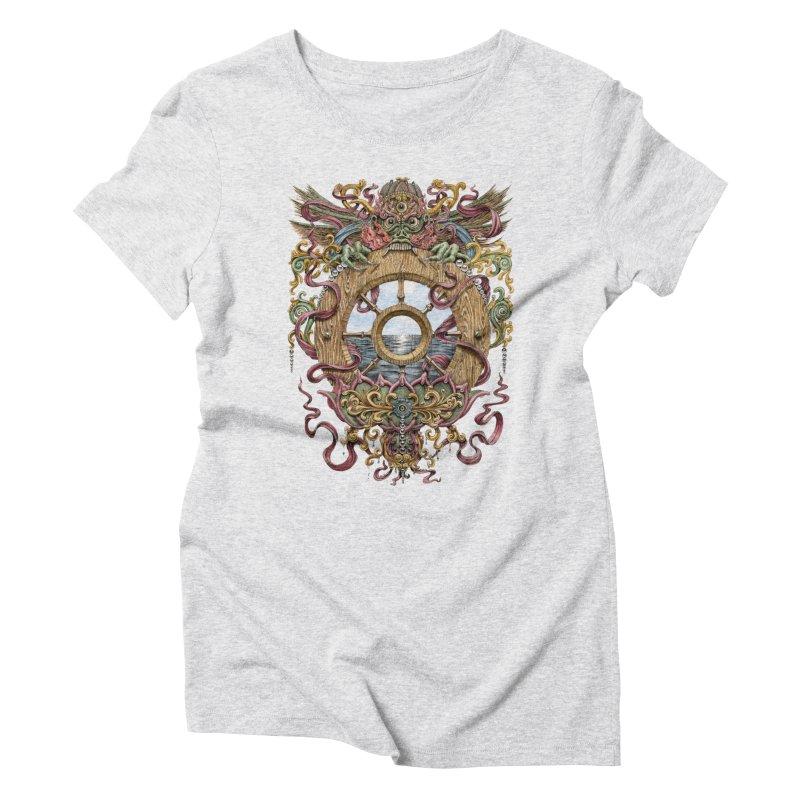 Writhing Waters XVI (Mara's Wheel) Women's Triblend T-Shirt by Jason Brammer's Shop