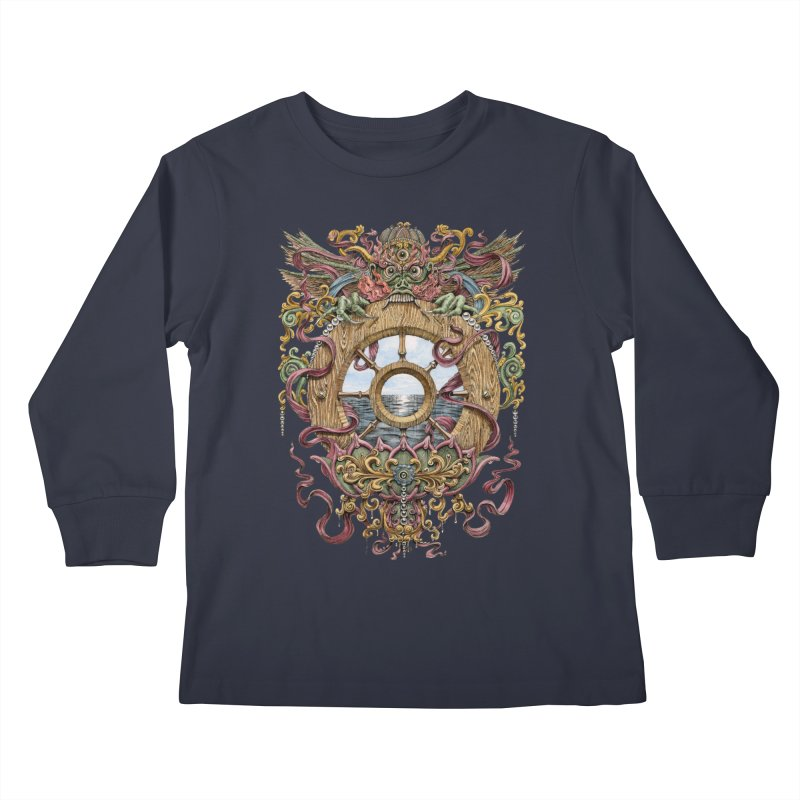 Writhing Waters XVI (Mara's Wheel) Kids Longsleeve T-Shirt by Jason Brammer's Shop