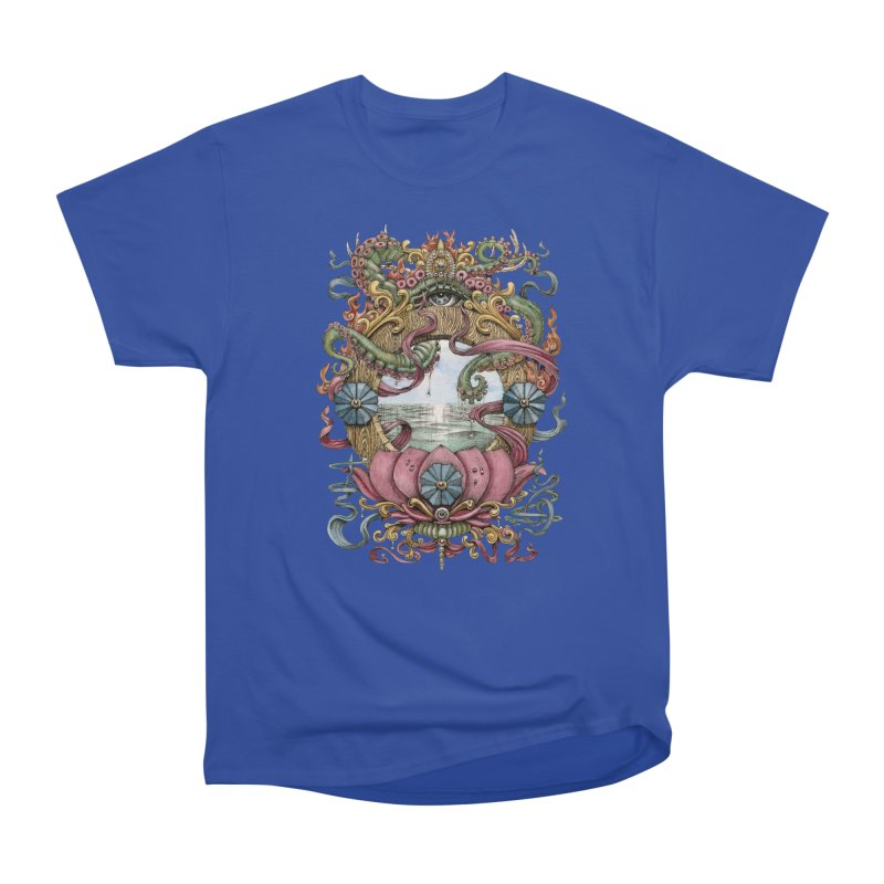 Writhing Waters XVII (Lotus Pearl) Men's T-Shirt by Jason Brammer's Shop
