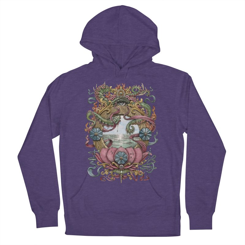 Writhing Waters XVII (Lotus Pearl) Women's French Terry Pullover Hoody by Jason Brammer's Shop