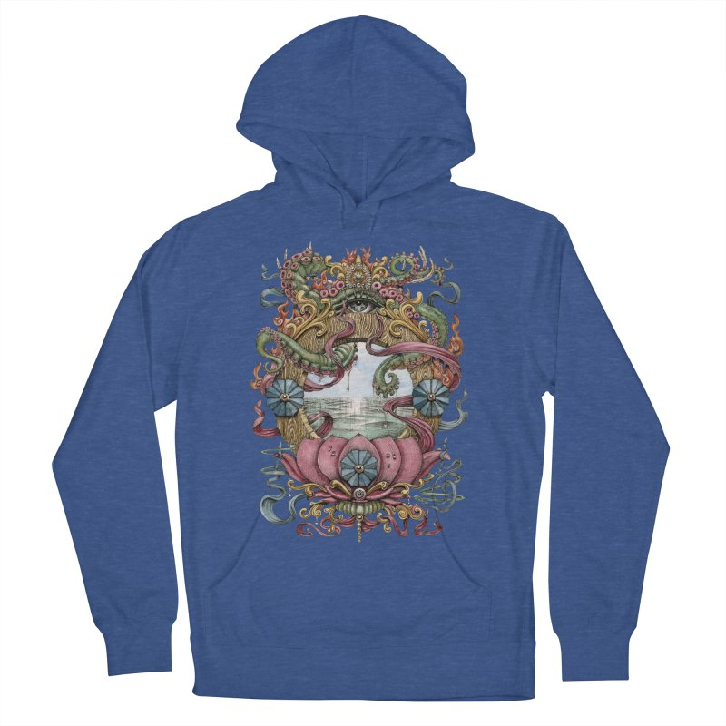 Writhing Waters XVII (Lotus Pearl) Men's French Terry Pullover Hoody by Jason Brammer's Shop