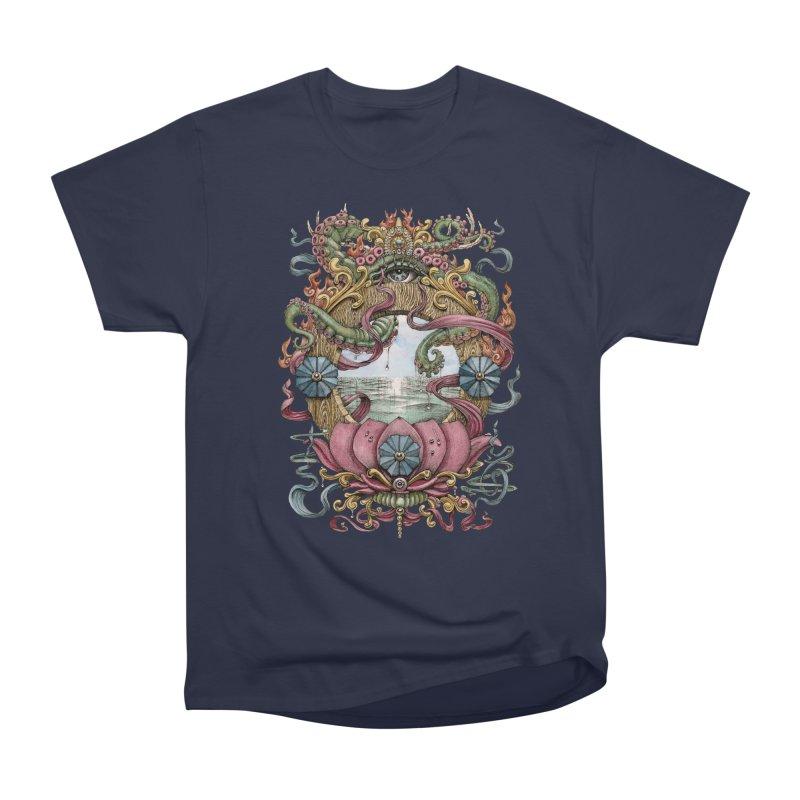 Writhing Waters XVII (Lotus Pearl) Women's Heavyweight Unisex T-Shirt by Jason Brammer's Shop