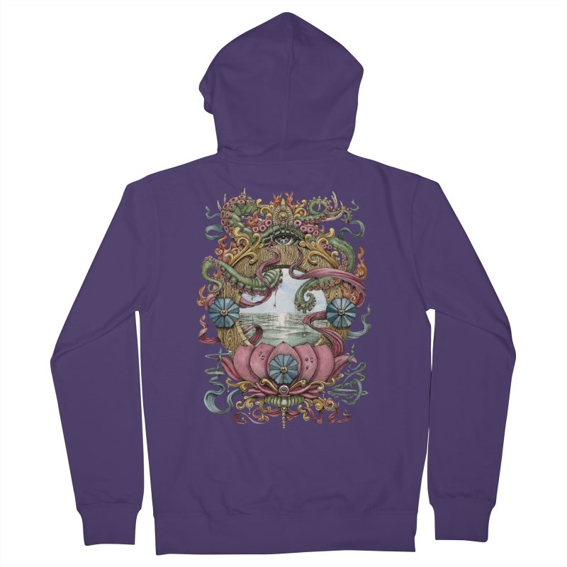 Writhing Waters XVII (Lotus Pearl) Women's French Terry Zip-Up Hoody by Jason Brammer's Shop