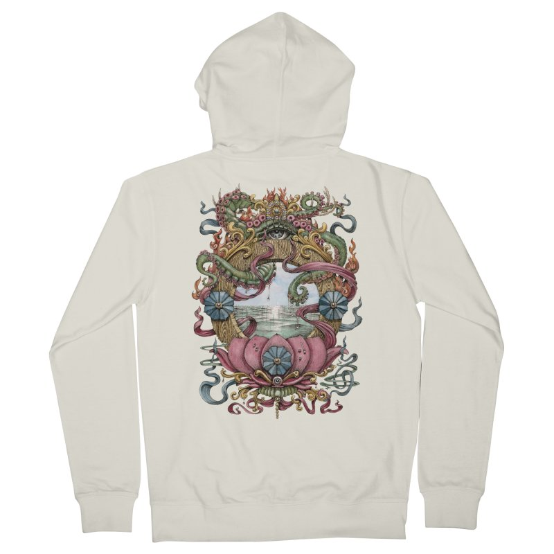 Writhing Waters XVII (Lotus Pearl) Men's French Terry Zip-Up Hoody by Jason Brammer's Shop